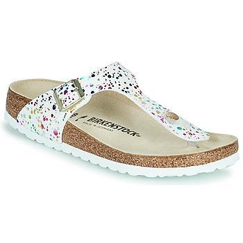Cipők Lány Lábujjközös papucsok Birkenstock GIZEH Fehér / Sokszínű