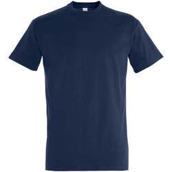 Ruhák Női Rövid ujjú pólók Sols IMPERIAL camiseta color French Marino Azul