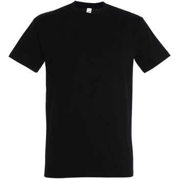 Ruhák Női Rövid ujjú pólók Sols IMPERIAL camiseta color Negro Profundo Negro