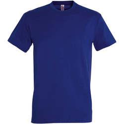 Ruhák Női Rövid ujjú pólók Sols IMPERIAL camiseta color Azul Ultramarino Azul