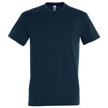 Ruhák Női Rövid ujjú pólók Sols IMPERIAL camiseta color Azul Petróleo Azul