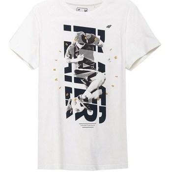 Ruhák Férfi Rövid ujjú pólók 4F TSM011 Fehér