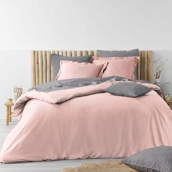 Otthon Ágyneműhuzat Douceur d intérieur STONALIA Rózsaszín