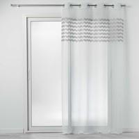 Otthon Függönyök Douceur d intérieur SANDINA Fehér / Szürke