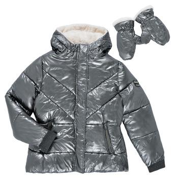 Ruhák Lány Steppelt kabátok Ikks OLIVE Ezüst