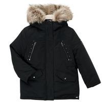 Ruhák Lány Parka kabátok Ikks COQUELICOT Fekete
