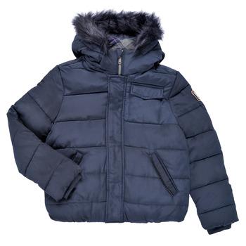 Ruhák Fiú Steppelt kabátok Ikks MAGENTA Tengerész