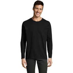 Ruhák Férfi Hosszú ujjú pólók Sols Camiseta manga larga Negro