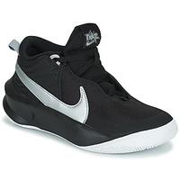 Cipők Gyerek Magas szárú edzőcipők Nike TEAM HUSTLE D 10 (GS) Fekete  / Ezüst