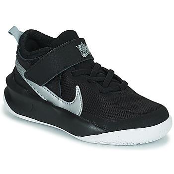 Cipők Gyerek Magas szárú edzőcipők Nike TEAM HUSTLE D 10 (PS) Fekete  / Ezüst