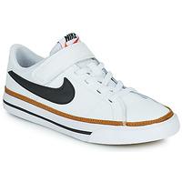 Cipők Gyerek Rövid szárú edzőcipők Nike NIKE COURT LEGACY (PSV) Fehér / Fekete