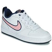 Cipők Gyerek Rövid szárú edzőcipők Nike COURT BOROUGH LOW 2 SE1 (GS) Fehér / Rózsaszín