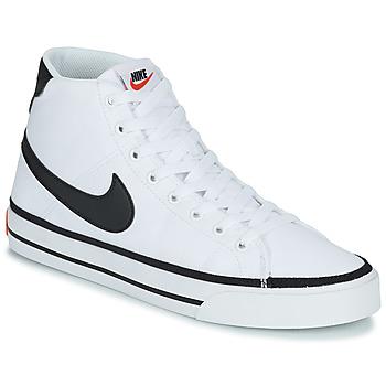 Cipők Férfi Magas szárú edzőcipők Nike NIKE COURT LEGACY CNVS MID Fehér / Fekete