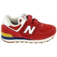 Cipők Fiú Rövid szárú edzőcipők New Balance PV574 C Rouge Piros