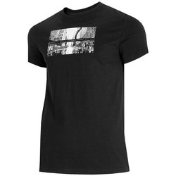 Ruhák Férfi Rövid ujjú pólók 4F TSM025 Fekete