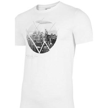 Ruhák Férfi Rövid ujjú pólók 4F TSM023 Fehér