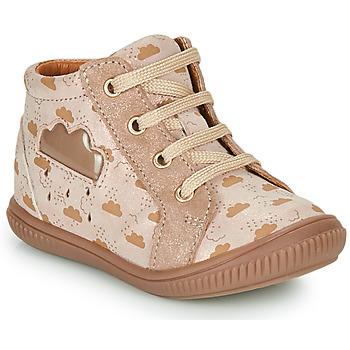 Cipők Lány Magas szárú edzőcipők GBB MASHA Bézs