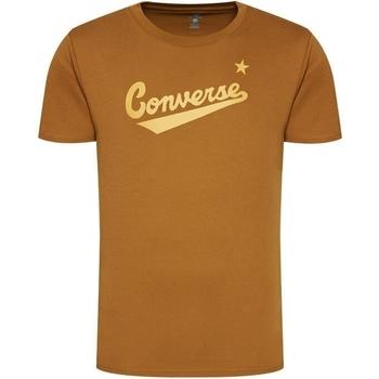 Ruhák Férfi Rövid ujjú pólók Converse Center Front Logo Barna