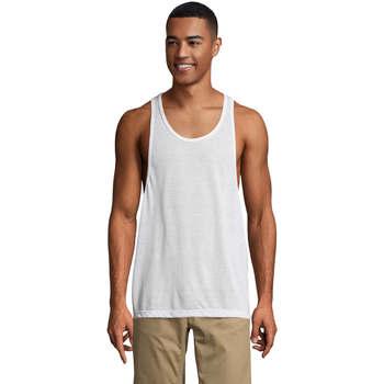 Ruhák Férfi Trikók / Ujjatlan pólók Sols Jamaica camiseta sin mangas Blanco