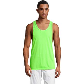 Ruhák Férfi Trikók / Ujjatlan pólók Sols Jamaica camiseta sin mangas Verde
