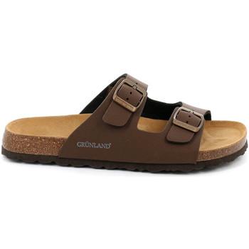 Cipők Férfi Papucsok Grunland CB3012 Barna