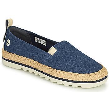 Cipők Női Gyékény talpú cipők Timberland Barcelona Bay Classic Textile Kék