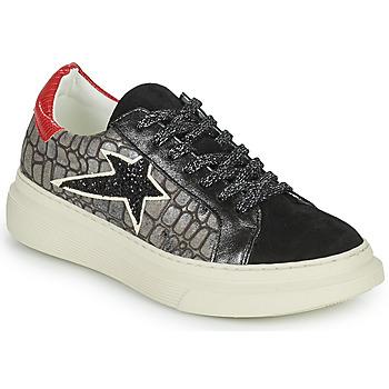 Cipők Női Rövid szárú edzőcipők Betty London PORMINE Fekete