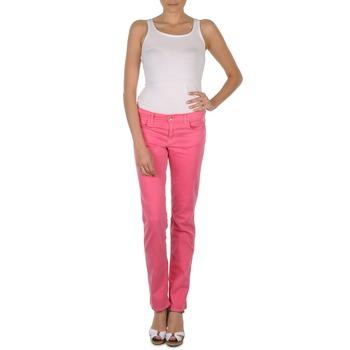 material Női Nadrágok Gant DANA SPRAY COLORED DENIM PANTS Rózsaszín