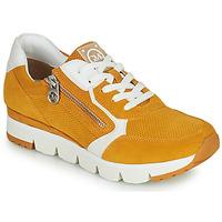 Cipők Női Rövid szárú edzőcipők Marco Tozzi NERIANA Citromsárga