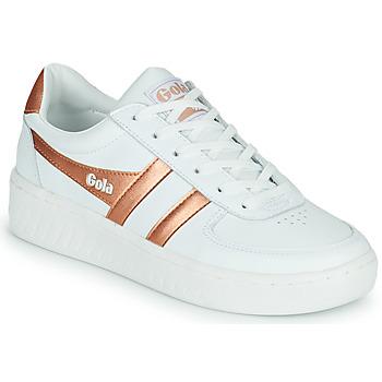 Cipők Női Rövid szárú edzőcipők Gola GOLA GRANDSLAM Fehér / Bronz