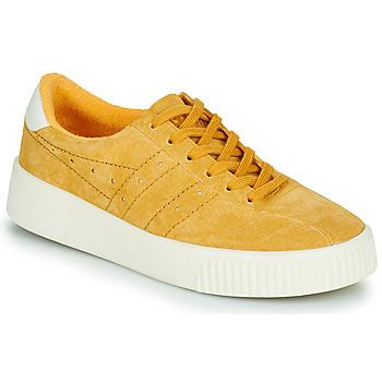 Cipők Női Rövid szárú edzőcipők Gola GOLA SUPER COURT SUEDE Mustár sárga
