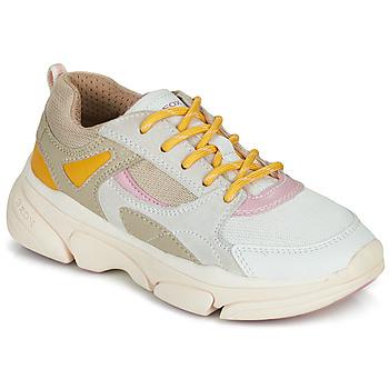 Cipők Lány Rövid szárú edzőcipők Geox J LUNARE GIRL Bézs