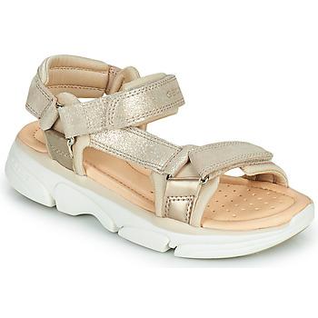 Cipők Lány Szandálok / Saruk Geox J SANDAL LUNARE GIRL Bézs