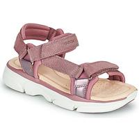 Cipők Lány Szandálok / Saruk Geox J SANDAL LUNARE GIRL Rózsaszín