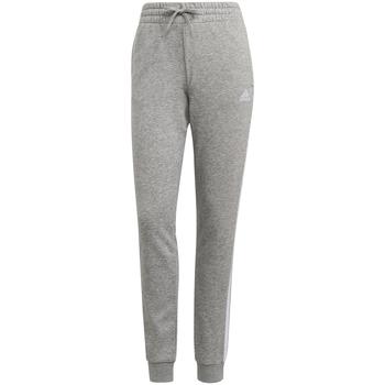 Ruhák Női Futónadrágok / Melegítők adidas Originals Pantalon femme  Essentials French Terry 3-Bandes gris chiné/blanc
