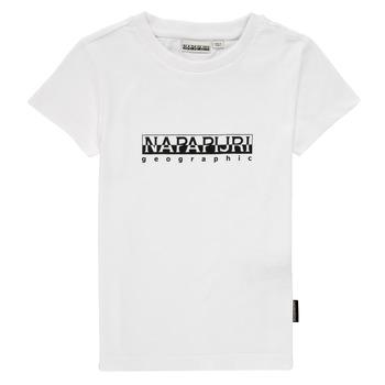 Ruhák Fiú Rövid ujjú pólók Napapijri S-BOX SS Fehér