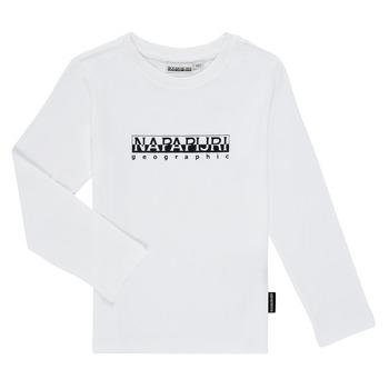 Ruhák Fiú Hosszú ujjú pólók Napapijri S-BOX LS Fehér