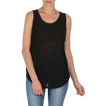 material Női Trikók / Ujjatlan pólók Majestic MANON Fekete