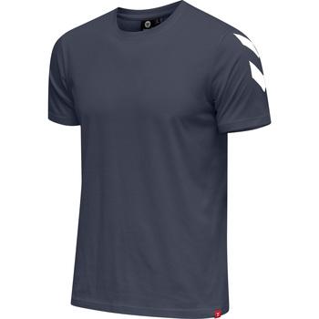 Ruhák Férfi Rövid ujjú pólók Hummel T-shirt  hmlLEGACY chevron bleu foncé