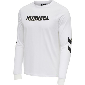 Ruhák Férfi Hosszú ujjú pólók Hummel T-shirt manches longues  hmlLEGACY blanc