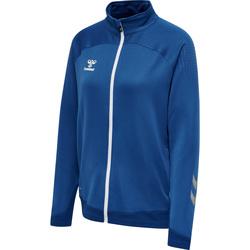 Ruhák Női Melegítő kabátok Hummel Veste zippée femme  hmlLEAD poly bleu