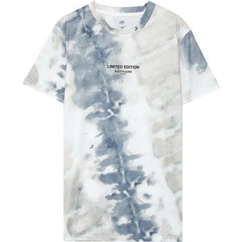 Ruhák Férfi Rövid ujjú pólók Sixth June T-shirt  tie dye beige