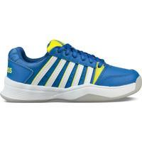 Cipők Gyerek Tenisz K-Swiss Chaussures enfant  ks tfw court smash bleu foncé/jaune/blanc