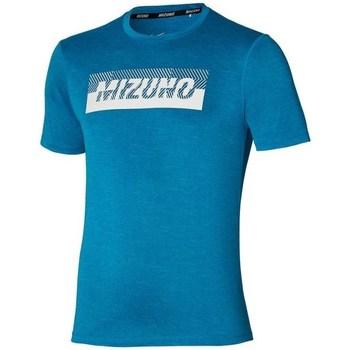 Ruhák Férfi Rövid ujjú pólók Mizuno Core Graphic Tee Kék