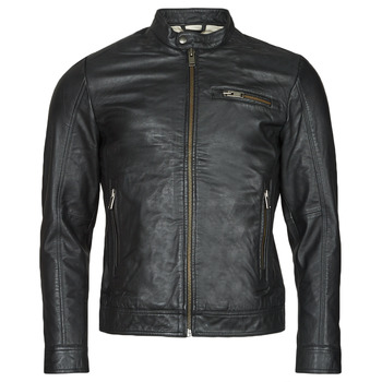 Ruhák Férfi Bőrkabátok / műbőr kabátok Selected SLHICONIC Fekete