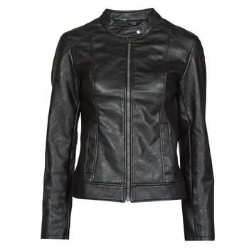 Ruhák Női Bőrkabátok / műbőr kabátok JDY JDYEMILY Fekete