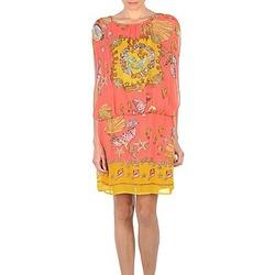 Ruhák Női Rövid ruhák Derhy ACCORDABLE Rózsaszín / Citromsárga