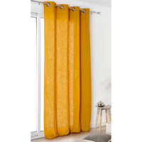 Otthon Függönyök és árnyékolók Linder TOILE ASP.LIN Citromsárga / Narancssárga