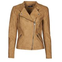 Ruhák Női Bőrkabátok / műbőr kabátok Only ONLAVA Teve