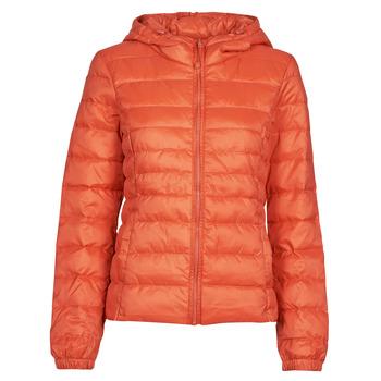 Ruhák Női Steppelt kabátok Only ONLTAHOE Narancssárga